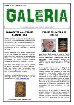 Marzo - Club del Libro en Español