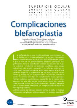 Complicaciones blefaroplastia