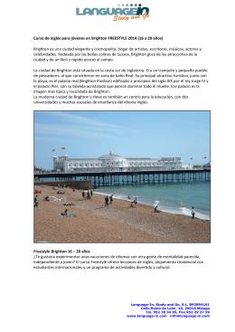 Curso de inglés para jóvenes en Brighton FREESTYLE