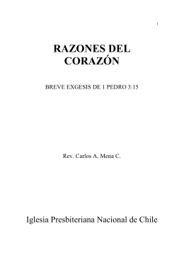 RAZONES DEL CORAZÓN