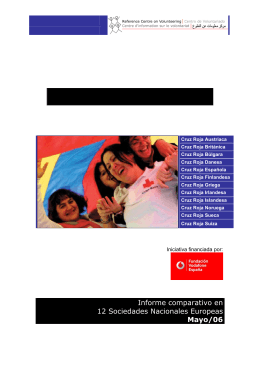 Voluntarios de Cruz Roja - Reference Centre on Volunteering