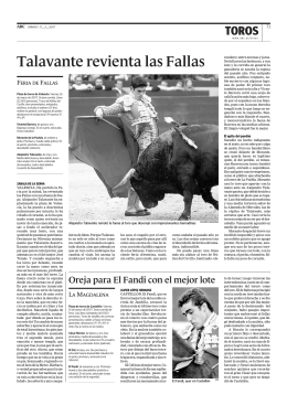 Talavante revienta las Fallas