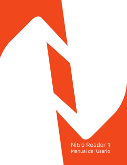 Nitro Reader 3 | Manual del Usario