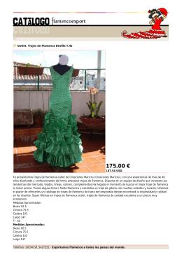 175.00 € - Flamenco Export