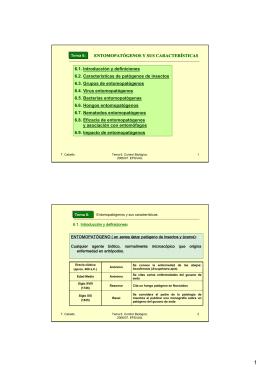 ENTOMOPATÓGENOS Y SUS CARACTERÍSTICAS 6.1