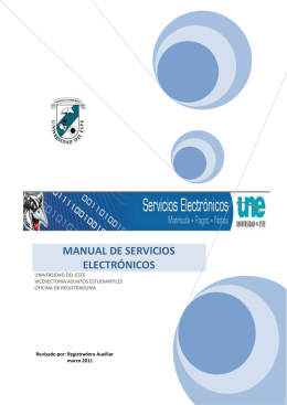 manual de servicios electrónicos - Sistema Universitario Ana G