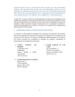 Instrucciones para la aplicación del descuento por residente