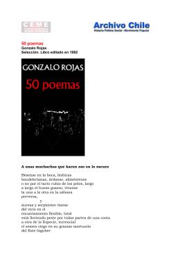 ``50 poemas``. Gonzalo Rojas 1982