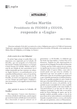 Entrevista a Carlos Martín Presidente de FECOES y CEUCO.