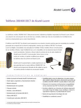 Teléfonos 300/400 DECT de Alcatel-Lucent