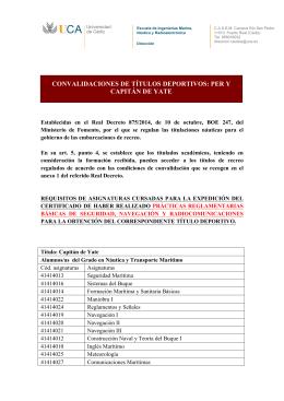 CONVALIDACIONES DE TÍTULOS DEPORTIVOS: PER Y CAPITÁN