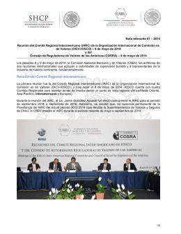Reunión del Comité Regional Interamericano