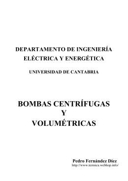 BOMBAS CENTRÍFUGAS VOLUMÉTRICAS