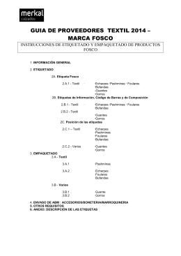FOSCO - GUIA DE PROVEEDORES textil y