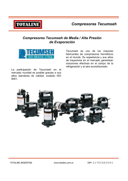 Compresores Tecumseh de Media / Alta Presión