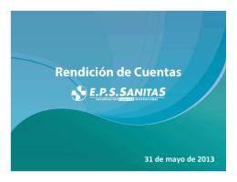 EPS SANITAS - RENDICIÓN DE CUENTAS 2012