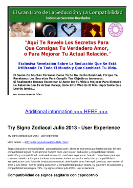 Try Signo Zodiacal Julio 2013