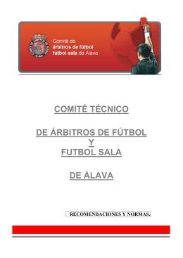 comité técnico de árbitros de fútbol y futbol sala de álava