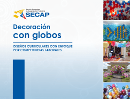 Decoración con globos