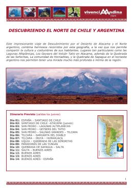Descubriendo el Norte de Chile y Argentina