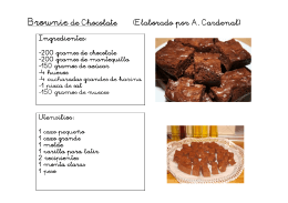 Brownie de Chocolate (Elaborado por A. Cardenal)