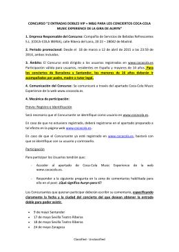 """""""2 ENTRADAS DOBLES VIP + M&G PARA LOS CONCIERTOS"""