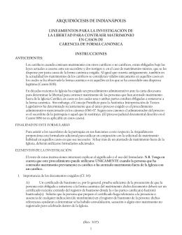 ARQUIDIÓCESIS DE INDIANÁPOLIS