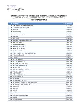 EMPRESAS/INSTITUCIÓNS CON CONVENIO