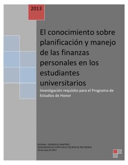 El conocimiento sobre planificación y manejo de las finanzas