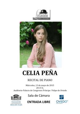 CELIA PENA PROGRAMA - Auditorio Palacio de Congresos