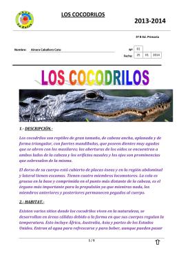 LOS COCODRILOS - CEIP La Zafra