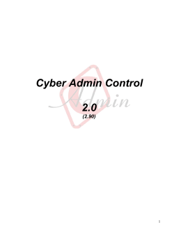 Cyber Admin Control 2.0