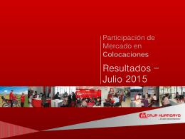 Participación de Mercado en Colocaciones - Julio