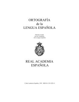 Ortografía de la Lengua Española - Centro de Geociencias ::.. UNAM