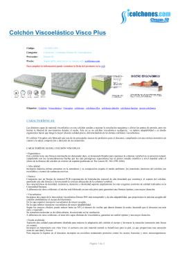 colchón viscoelástico VISCO PLUS