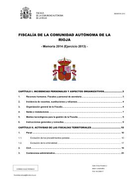 fiscalía de la comunidad autónoma de la rioja