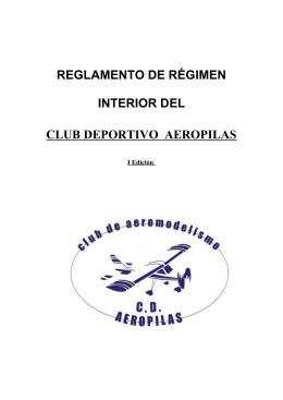 REGLAMENTO DE RÉGIMEN INTERNO DEL