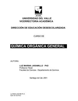 QUÍMICA ORGÁNICA GENERAL