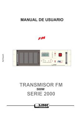 TRANSMISOR FM SERIE 2000