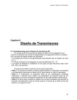 Capítulo 6 Diseño de Transmisores