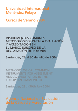 Instrumentos metodológicos comunes para la evaluación
