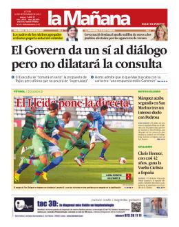 El Lleida pone la directa
