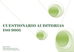 cuestionario cuestionario auditorias auditorias auditorias iso 9001