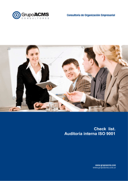 CHECK LIST AUDITORIA ISO 9001