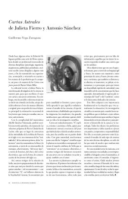 Cartas Astrales de Julieta Fierro y Antonio Sánchez
