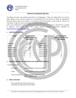 Requisitos Admisión_2014