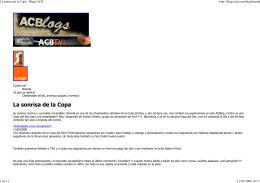 La sonrisa de la Copa - Blogs ACB