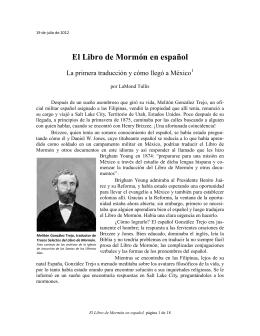El Libro de Mormón en español - La Iglesia de Jesucristo de los