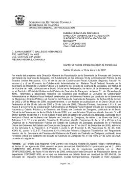 SECRETARIA DE FINANZAS DIRECCIÓN GENERAL