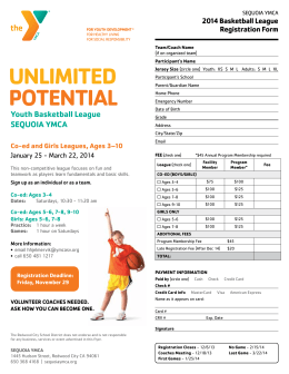 UNLIMITED POTENTIAL Youth Basketball League sEqUOIA YMCA